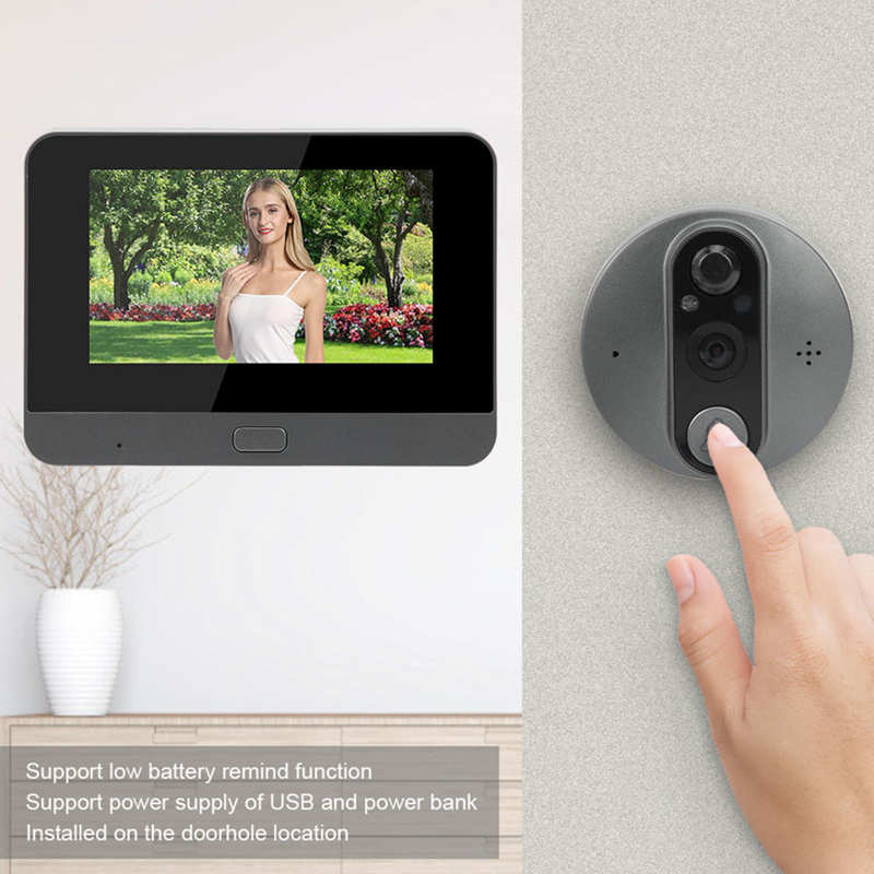 4.3in WiFi Video Doorbell Intercom LCD Display 720P Night Vision Motion Detection Support for Tuya enlarge