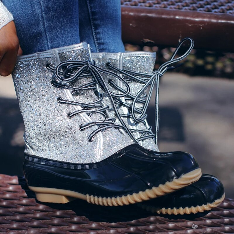 Ankle Boots For Women Boots Leopard Women Winter Boots Waterproof Rain Boots Female Winter Shoes PVC Jelly Shoes Women Booties