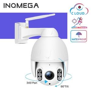 INQMEGA 1080P FHD PTZ WiFi Camera Security Two-way Audio Outdoor Waterproof IP Camera Auto Tracking Alarm Surveillance Cameras