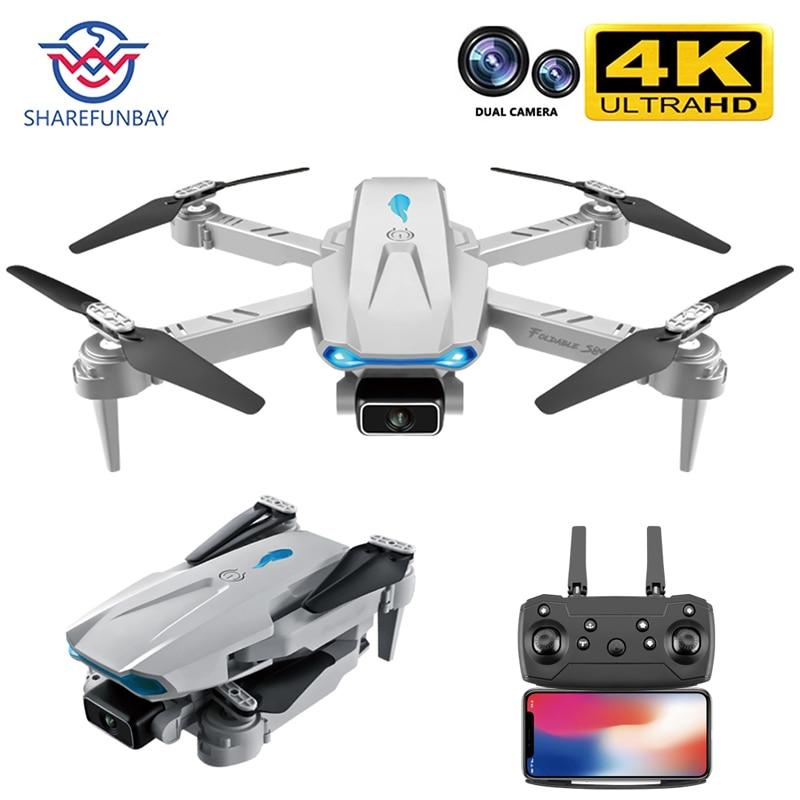 2021New S89 برو الطائرة بدون طيار 4k HD كاميرا مزدوجة لتحديد المواقع البصرية 1080P واي فاي Fpv درون ارتفاع الحفاظ على أجهزة الاستقبال عن بعد VS V4 لعبة طائ...