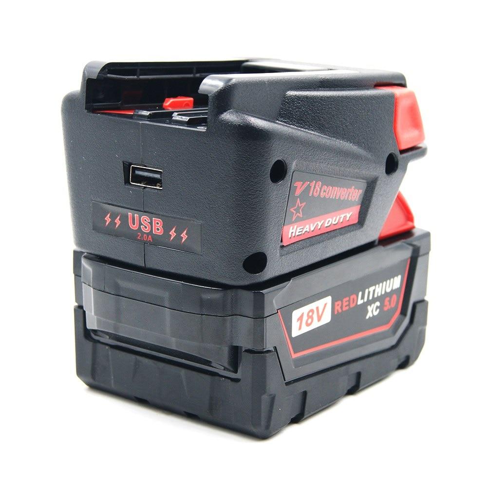 Adapter Converter for Milwaukee M18 M18B 18V Li-ion Battery for Milwaukee 18V NI-CD Tools Milwaukee V18 Li-ion Tool enlarge