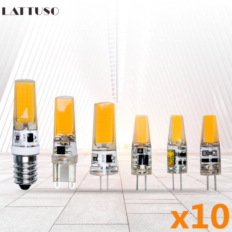 10 шт./лот G4 G9 E14 светодиодные лампы мини светодиодные лампочки AC220V DC12V SMD COB точечные люстры высокое качество освещения Сменные галогенные лам...
