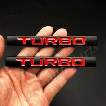 2 pièces métal noir Turbo voiture coffre emblème Badge autocollant i VTEC 370 220 210