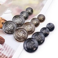 10pcslot 152025mm diy sewing buttons for clothing european style vintage jacket buttons fashion black metal buttons for coat