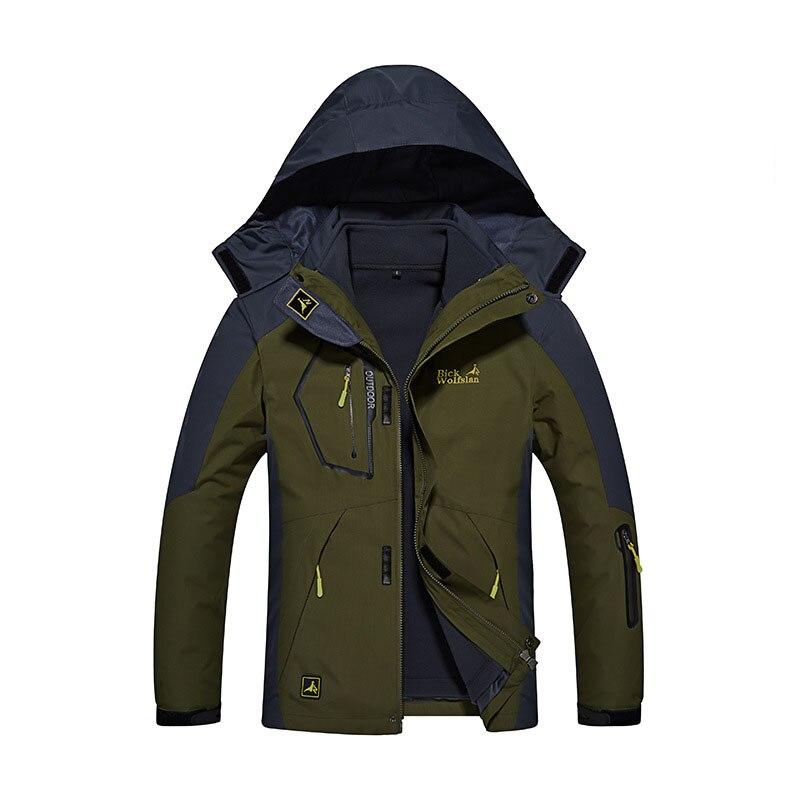 На температуру-30 градусов супер теплая зимняя Лыжная куртка мужская Водонепроницаемый дышащая Сноубордическая куртка для катания на лыжах...