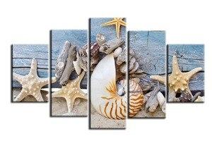 Diamond Mosaic Multi-picture Combination DIY Diamond Painting Beach Seascapes Full Square 5pcs Home Decoration