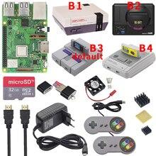 Raspberry Pi 3 modèle B Plus kit de jeu + alimentation + carte SD + câble HDMI + dissipateur de chaleur + rétroflag étui NESPi pour Retropie 3B Plus