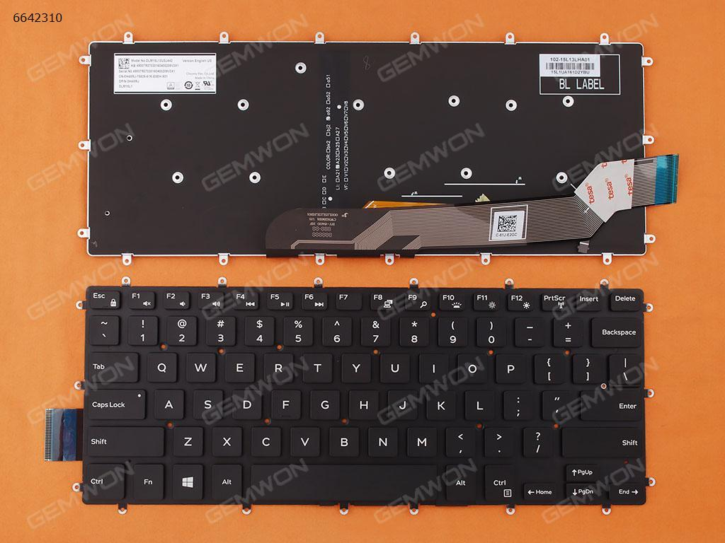 genuine us english layout keyboard for dell inspiron 15 7537 15 7537 15 7000 7000 laptop keyboards backlight silver gray frame US Layout New Replacement Keyboard for DELL Inspiron Gaming 14 7466 7467 Laptop Black with Backlit