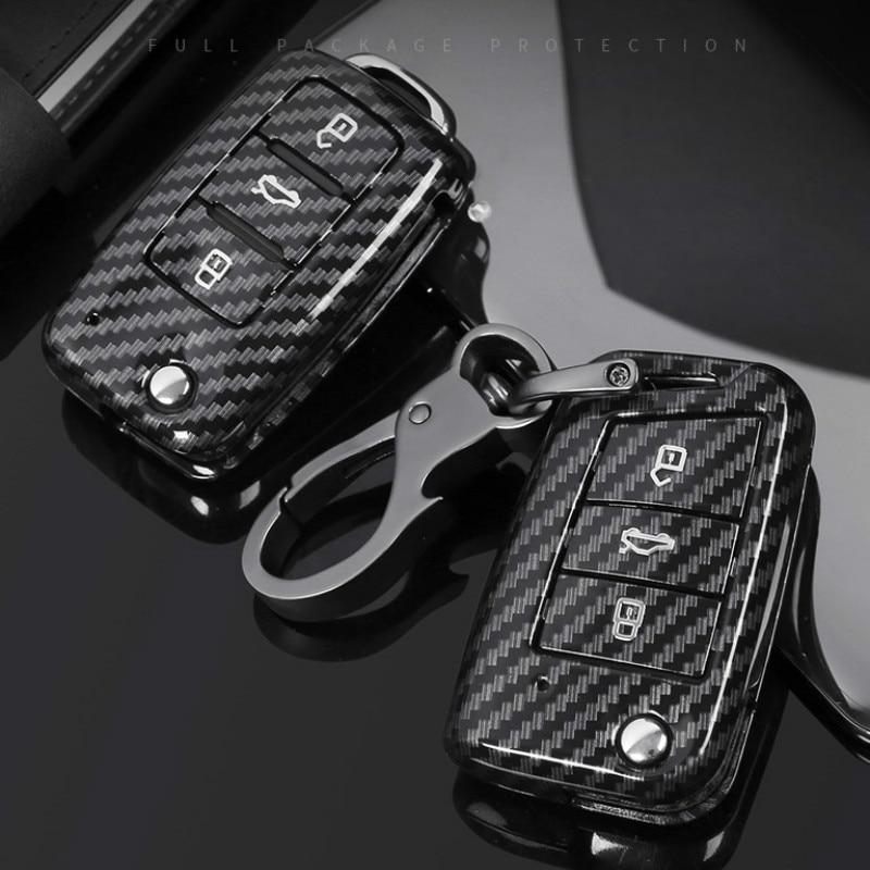 De fibra de carbono ABS coche caso clave para VW Volkswagen Polo...
