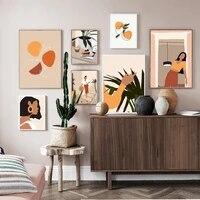 Toile dart mural pour fille  abstrait  mode Vintage  affiches et imprimes nordiques  images murales pour decoration de maison