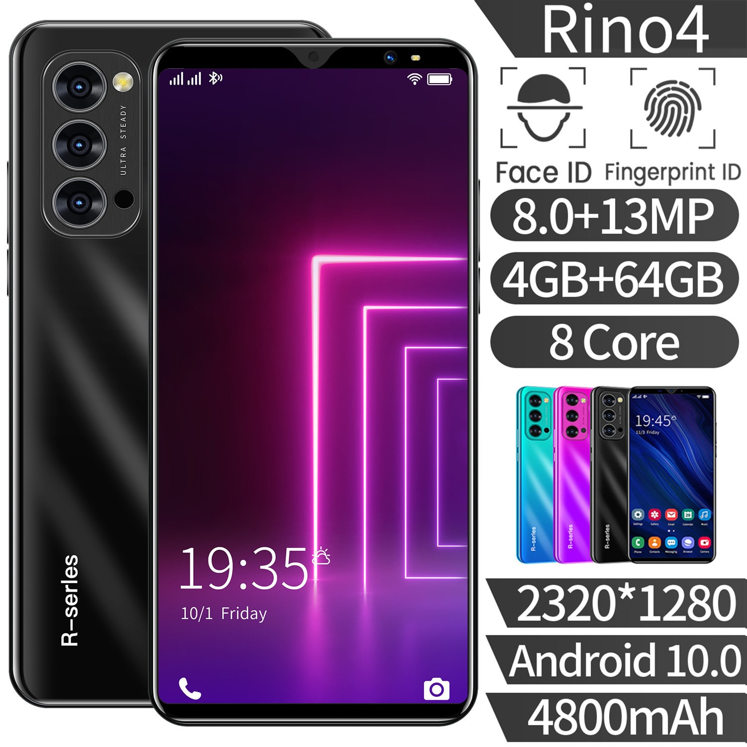 Global Version Rino4 4GB RAM 64GB ROM Smartphone Mobile Phone 8MP+13MP 4G LTE Dual Sim Card 5.8