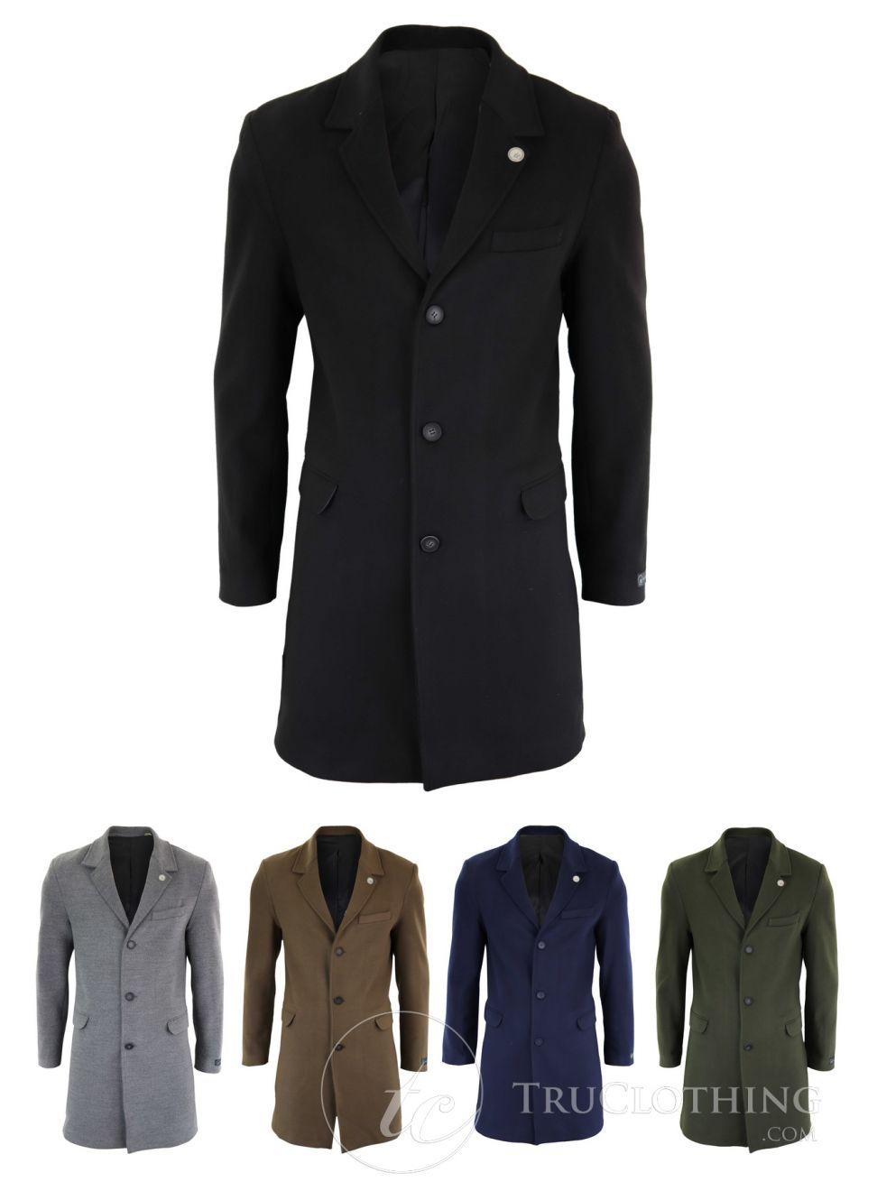 معطف طويل من الصوف الكلاسيكي للرجال ، بدلة من قطعة واحدة Peaky Blinders ، سترة صوف تويد مصنوعة حسب الطلب