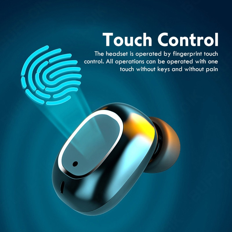 TWS Bluetooth Wireless Headphones Touch Control Earphone LED Display Big Battery 3500mAh Charging Box Headsets Earbuds with Mic enlarge