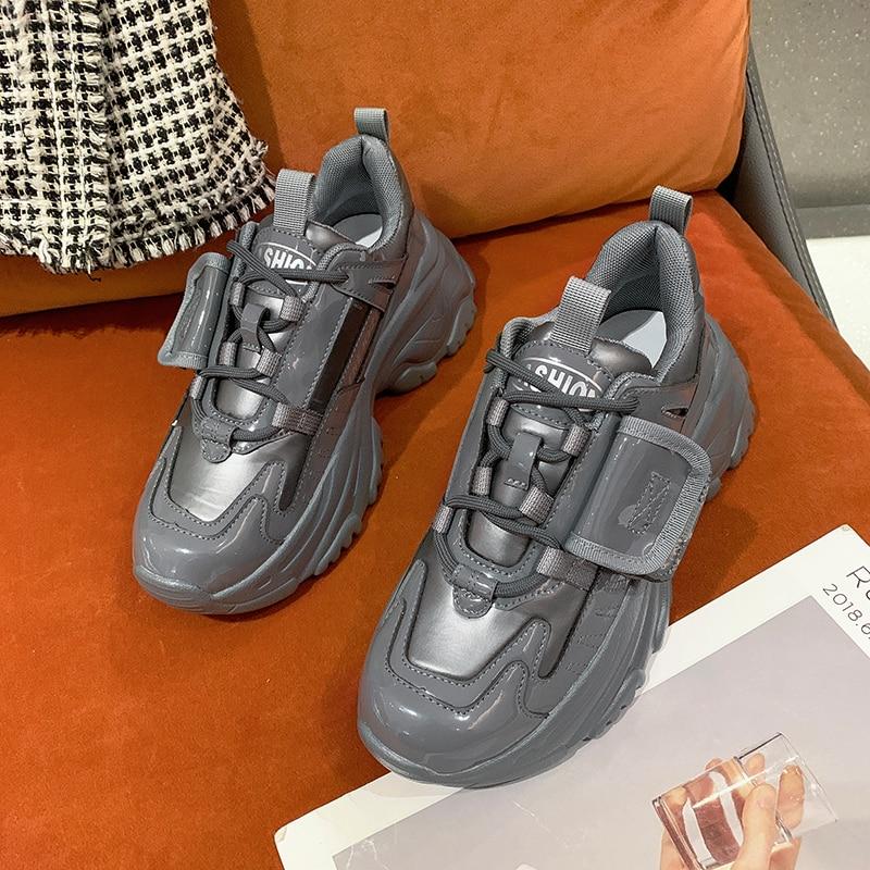 Zapatillas deportivas De suela gruesa para Mujer, zapatos informales a la moda,...
