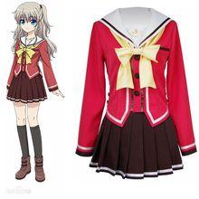 High-Q Unisex Anime Cos Charlotte Tomori Nao Yusa Nishimori School Uniform Cosplay Costumes Sets
