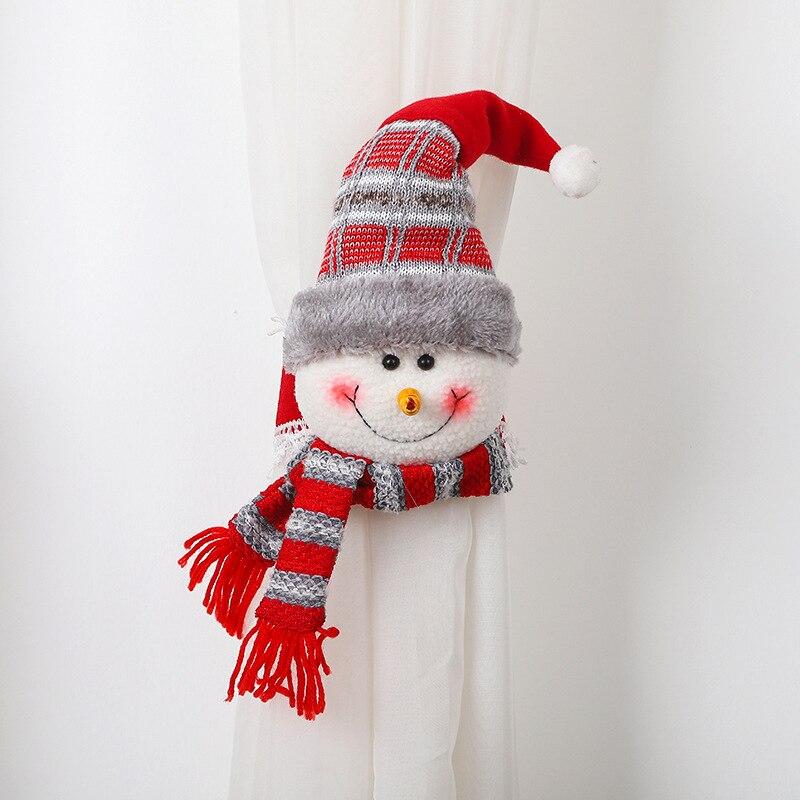 Navidad Christmas Curtain Buckle Cartoon Decoration Window Bedroom Hook Fasten Clamp Hogar Home Decor Room
