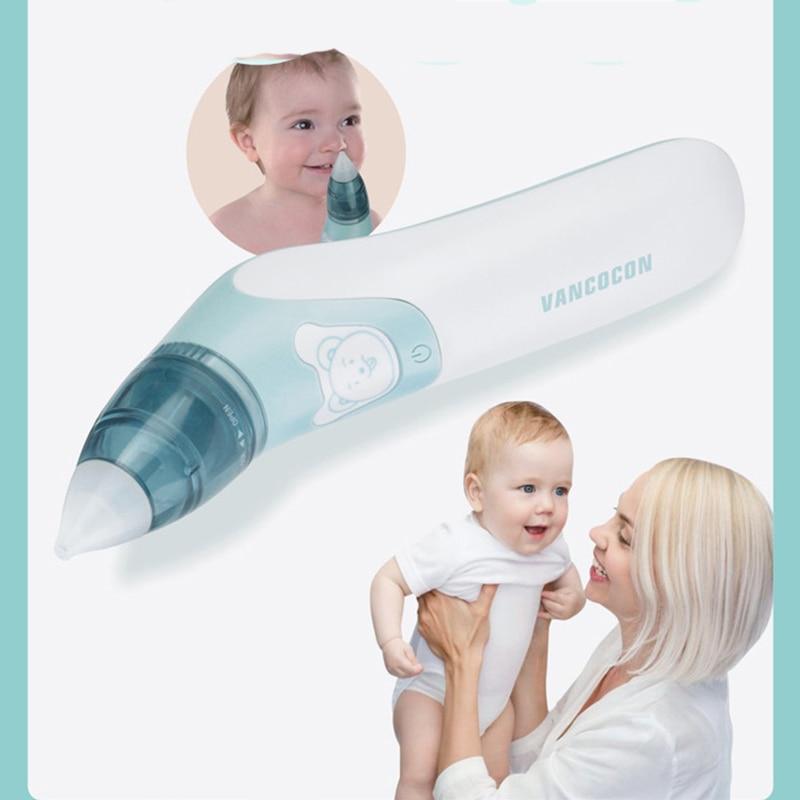جهاز تنفس كهربائي لأنف الطفل حديث الولادة, جهاز العناية بالطفل ، لتنظيف أنف الطفل من الأوساخ عن طريق الشفط