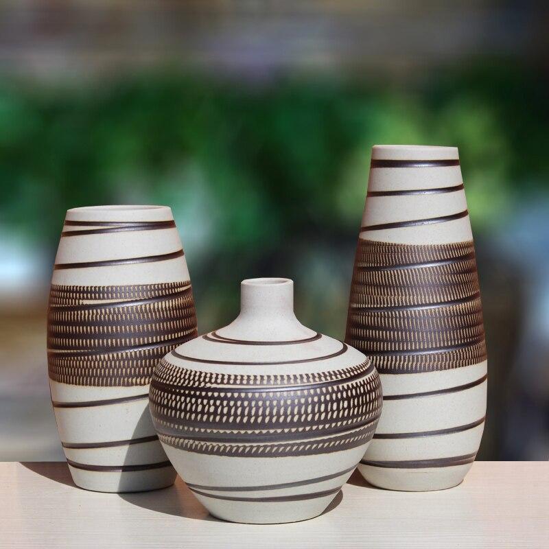 Купить с кэшбэком Ceramic vase home living room TV cabinet wine cabinet decoration ornaments soft art ceramic