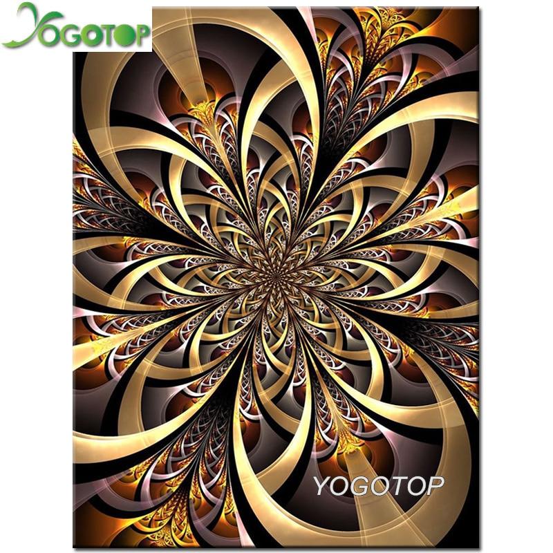 5d Diy bordado de diamantes flor abstracta diamante pintura de mosaico de diamantes imagen perforación Completa rompecabezas mandala icono YY2014