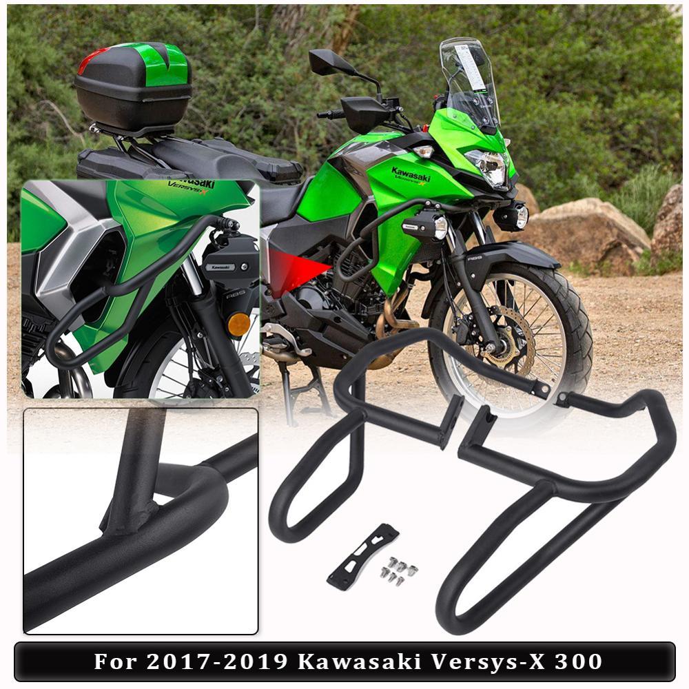 Cubierta negra del motor de la barra de choque parachoques marco Protector contra caídas para 2017 2018 2019 Kawasaki versys-x Versys X 300 Versys300