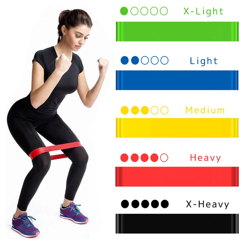 Yoga Resistance Rubber Bands Fitness Elastic Bands 0.3mm-1.1mm Training Fitness Gum Pilates Sport Crossfit Workout Equipment