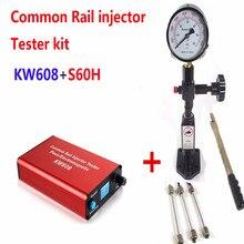 Кавиш! Набор для тестирования форсунок с общей топливной магистралью KW608, тестер форсунок с разъемом USB и тестер форсунок с общей топливной магистралью S60H