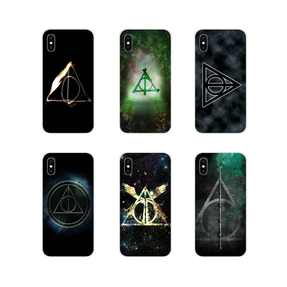 Para HTC One U11 U12 X9 M7 M8 A9 M9 M10 E9 Plus Desire 630 530 626 628 816 820 830 Harry siempre Deathly, estuche de bolsa de TPU
