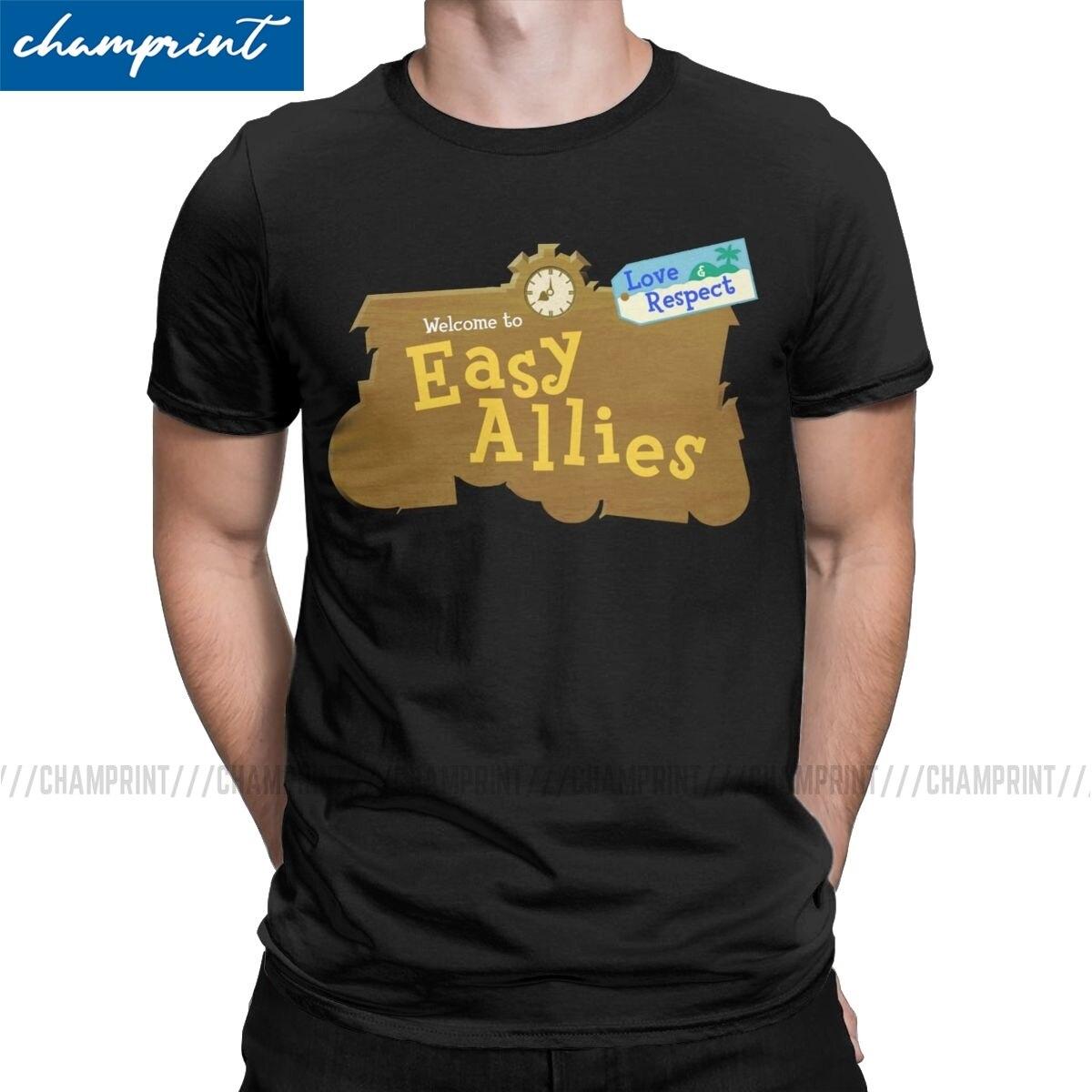 Camiseta de animales aliados para hombre, nueva camiseta de manga corta con...