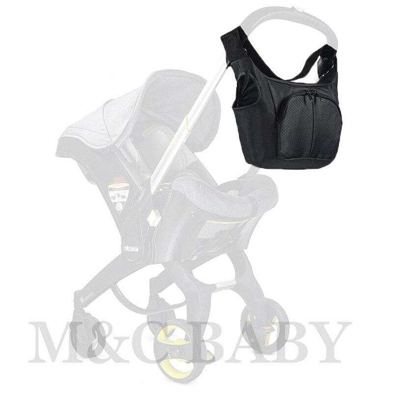 bolsa de armazenamento para carrinho de carro compativel com doona foofoo bolsa preta