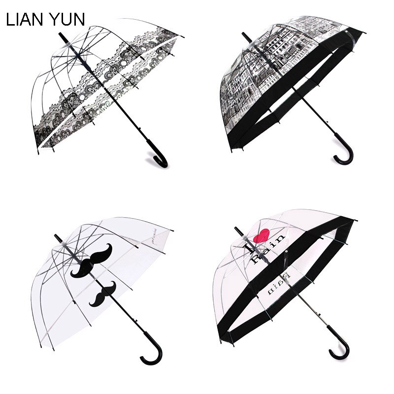 Transparente Paraguas automático Paraguas para niños Paraguas Guarda Chuva Paraguas Sombrilla Ombrello Sombrilla Paraguas Plegable Mujer