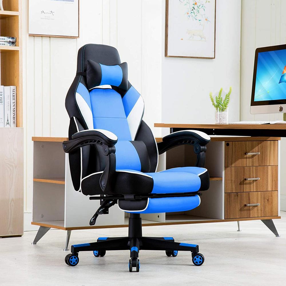 Cadeira de corrida com encosto alto ergonômico jogos cadeira de jogo cadeira de computador cadeira executiva cadeira de escritório leatherette