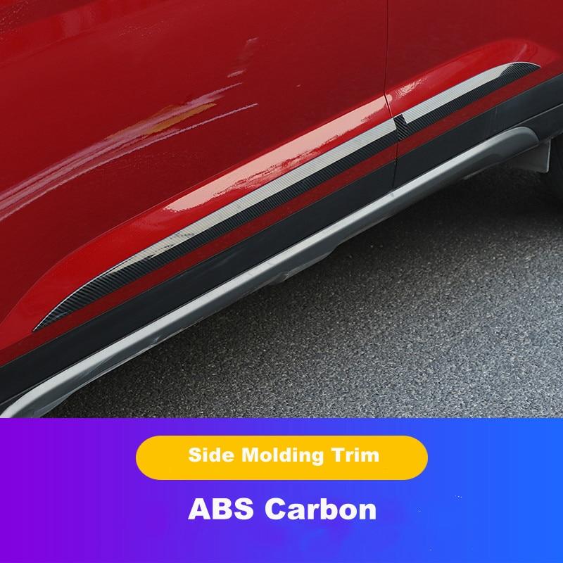 4 Uds carbono ABS cromo moldura embellecedora lateral de puerta guarnición accesorios de coche para 2020 Hyundai IX25 Creta