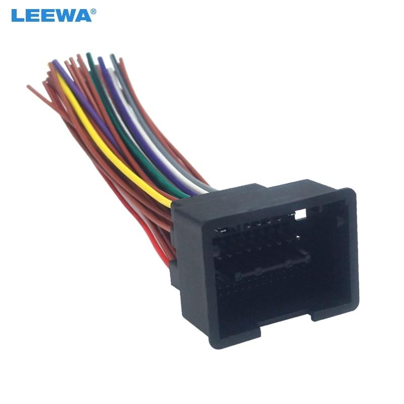 LEEWA Auto Radio Audio 44Pin Installation Kabelbaum Adapter Für Chevrolet Cruze Aveo Malibu ISO Stereo Kabel # CA6176