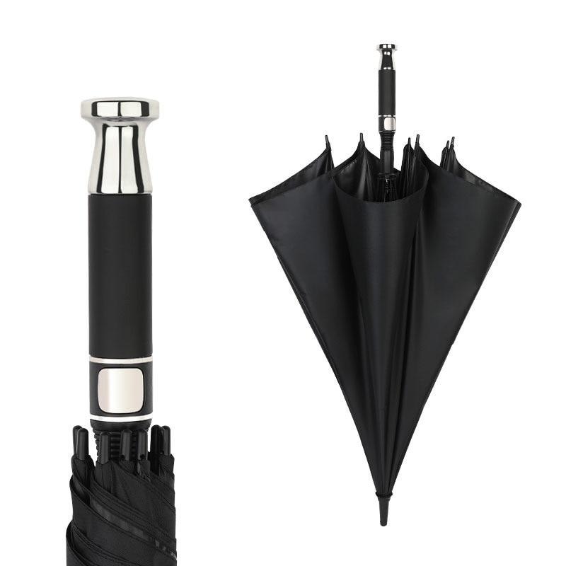 Роскошный зонт для гольфа, полностью оптоволоконный автоматический зонт с длинной ручкой, деловой зонт, зонт парагвайский с логотипом на за...