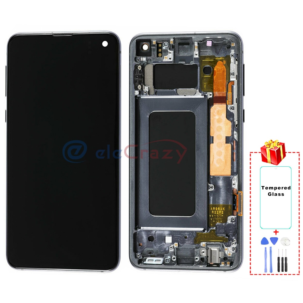 Original AMOLED for Samsung Galaxy S10E G970F LCD Display with Touch Digitizer and Frame Assembly Replacement 100% Tested enlarge