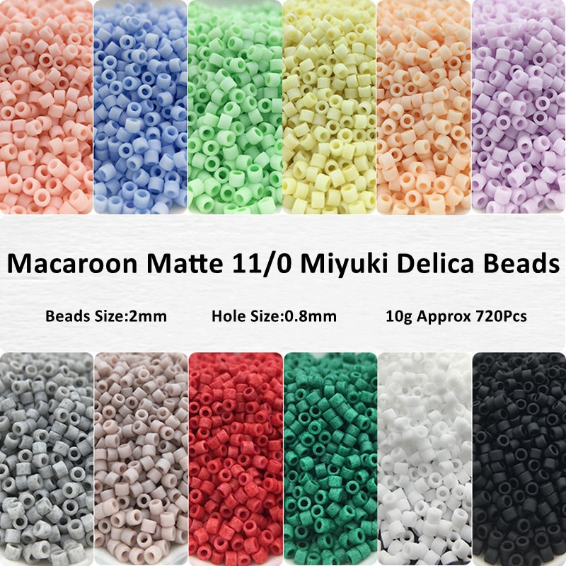 2mm 11/0 Miyuki Delica Beads Uniform Macaroon Colors Matte Glass Seed Beads Frosted For DIY Jewelry