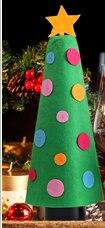 Nova Forma de Árvore de Natal Xmas Prop Tampa de Garrafa de Vinho de Natal Decoração Do Partido Jantar Craft Gift Set Hot