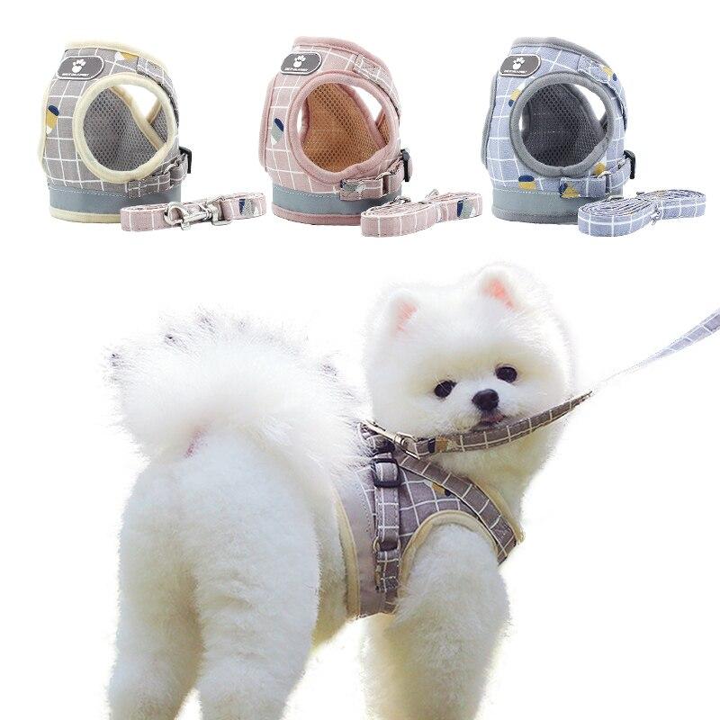 Pet arnés para perro o gato Chaleco con correa arnés ajustable para perros medianos pequeños gatos cachorro mascota reflectante productos para Chihuahua nuevo