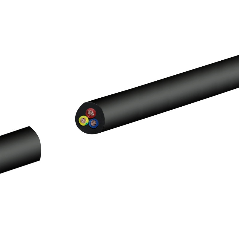 AWG RVV 3 2  4 5  6  8 Cable Conductor de Cable de cobre RVV negro Funda suave GC-YPAY de alambre