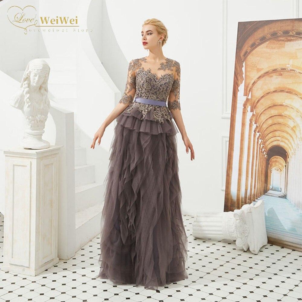 Модное-платье-для-матери-невесты-с-полурукавами-кружевное-платье-до-пола-с-круглым-вырезом-и-аппликацией-с-многоярусными-оборками-и-поясо