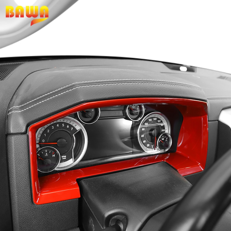 BAWA ABS Car Console Dashboard Panel Frame GPS Navigation Cover Interior Stickers For Dodge Ram 1500 2010-2017 Car Accessories enlarge