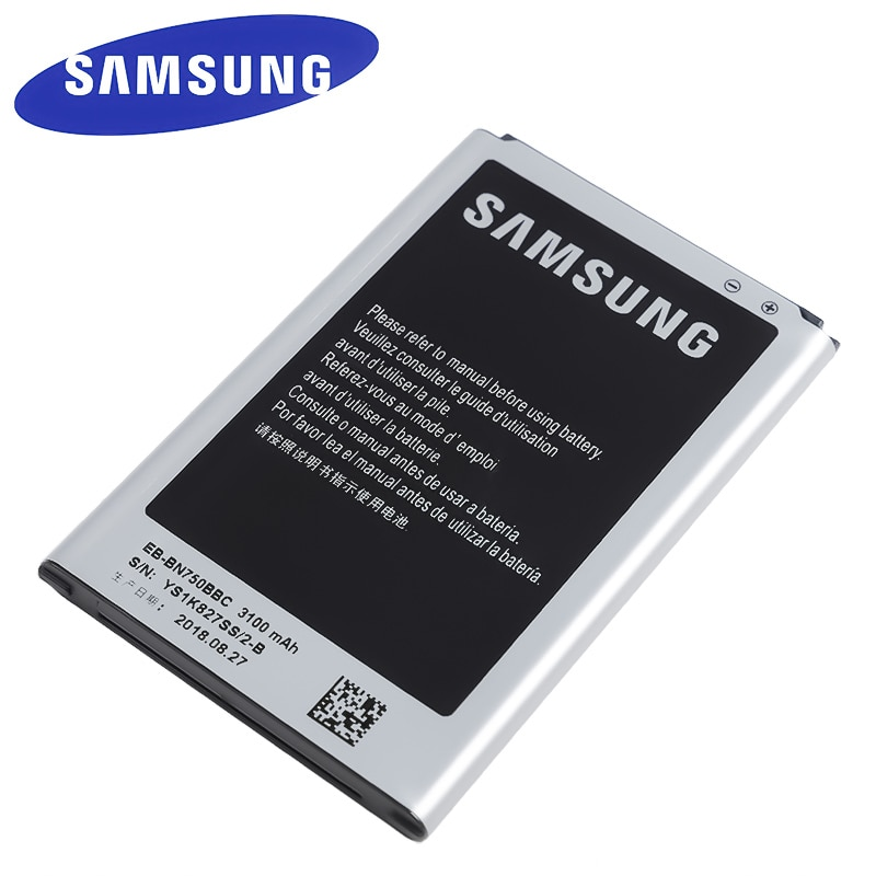 EB-BN750BBC EB-BN750BBE Original de Samsung batería de reemplazo para Samsung Galaxy Note 3 Neo N750 N7508V SM-N7505 N7502 3100mAh con NFC