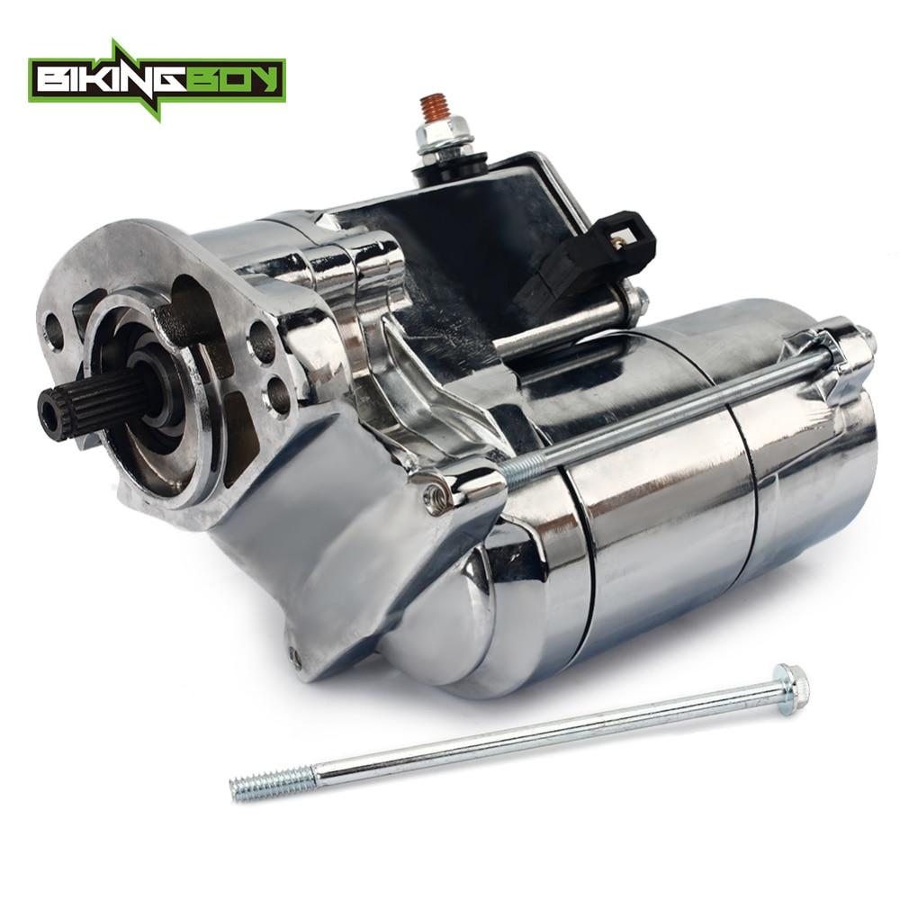 BIKINGBOY 1.6KW Cromo 1340cc Motor de Arranque + Parafuso Para Harley Davidson 1994-1999 1450cc 1999-2006 OEM/31335-03A /31559-99/18446