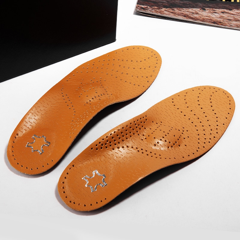 Genu varum Cattlehide Corrected insole Flat-footed Man and woman arch supported Size of XO Eversion