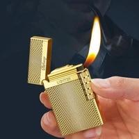 new oblique tobacco pipe flint lighter with ping sound windproof jet butane gas lighter cigar cigarette lighter gadgets for men