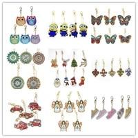 5d diy diamond painting keychain rhinestone embroidery pendant diy craft kits diamond painting cross stitch keychain accessories