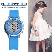SYNOKE reloj para niños adolescentes 5bar impermeable de alta calidad correa de silicona multicolor luces led reloj de moda para niñas niños 2020