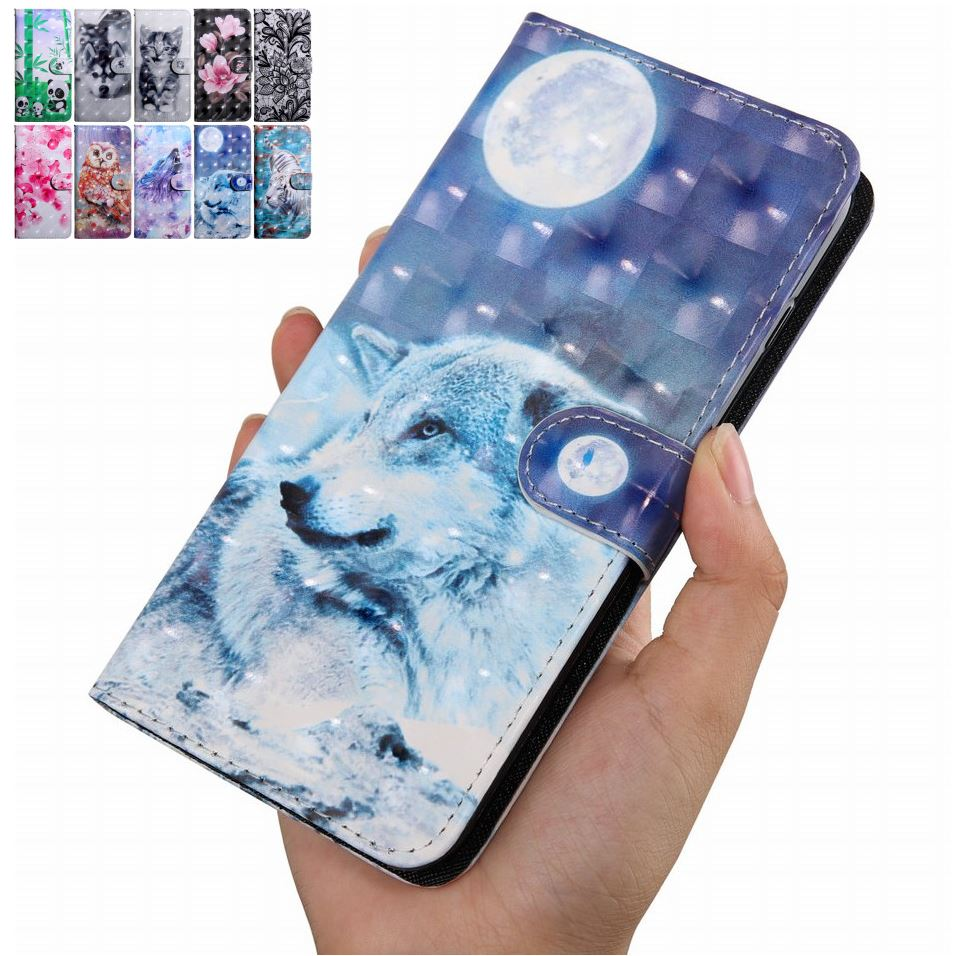 Funda de teléfono con tapa bonita para niños, funda para Samsung Galaxy J310 J510 J330 J530 J730 J2 Pro Panda Husky Cat, funda con soporte tipo billetera de cuero O29G