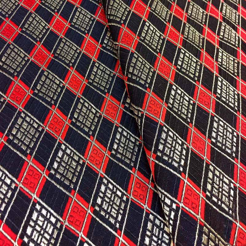Brocado tecido jacquard imitação diy tecido damasco náilon poly check qualificado para saco travesseiro cortina pano