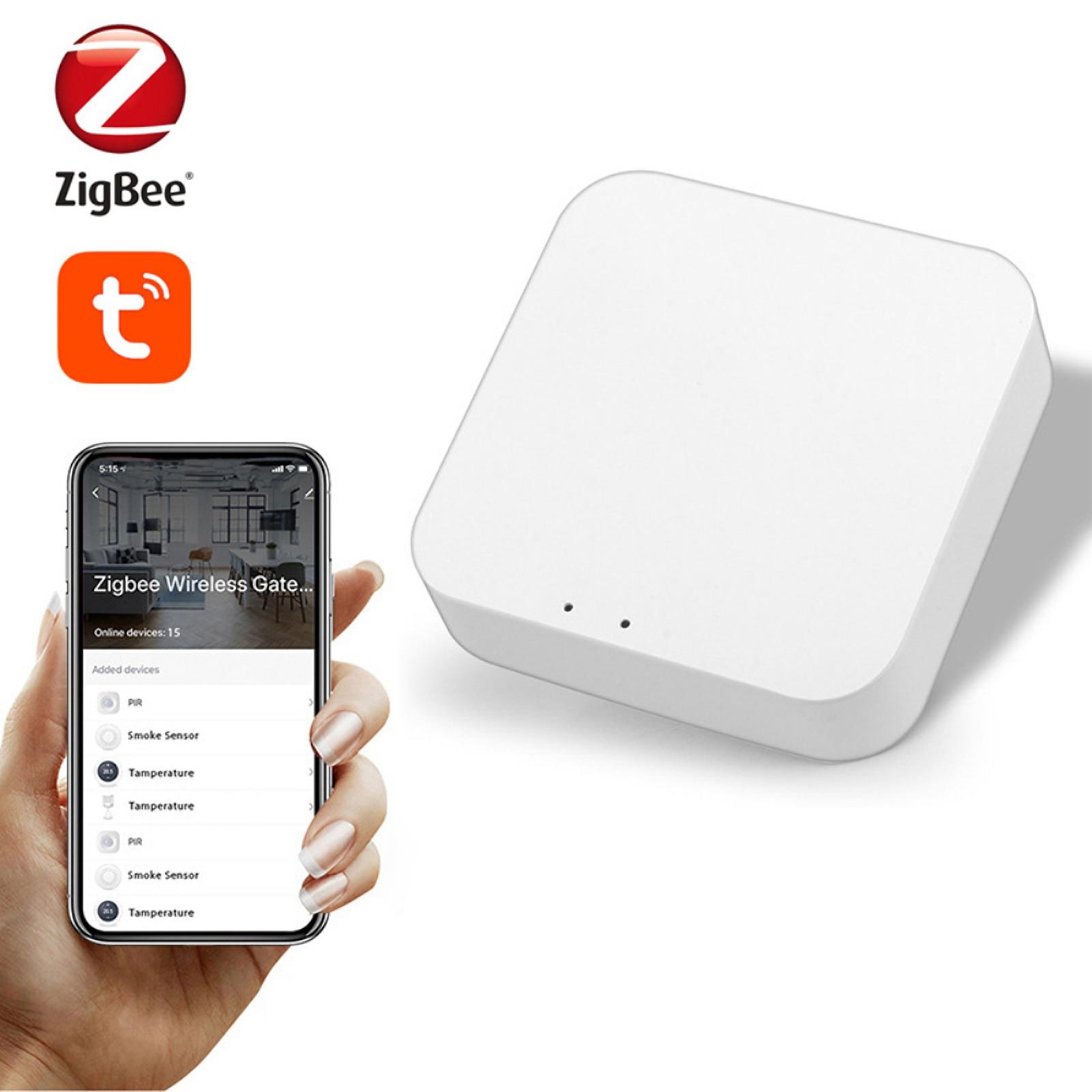 بوابة زيجبي الذكية اللاسلكية بوابة المنزل الذكي زيجبي محور مركزي APP التحكم عن بعد التحكم الصوتي مجموعة التحكم